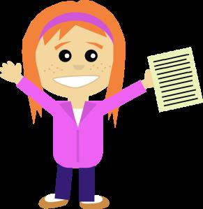 Happy-Girl-Writing