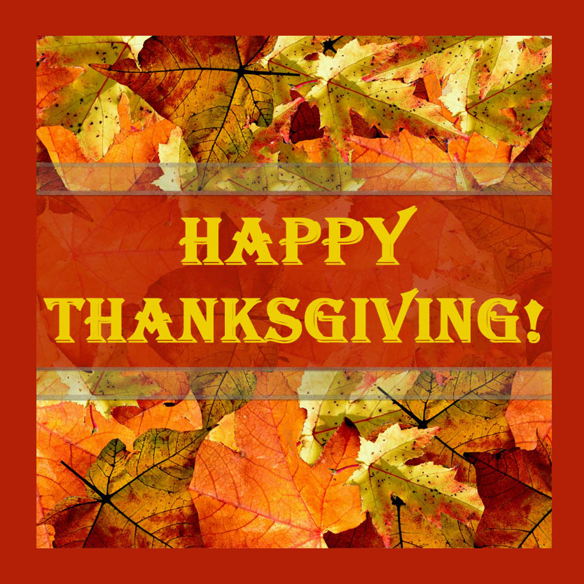 Happy Thanksgiving Image with frame