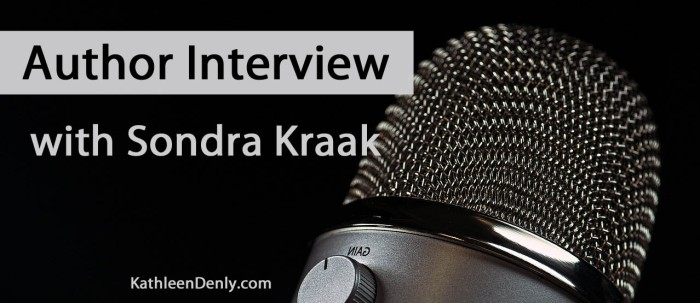 Author Interview Blog Title Image - Sondra Kraak