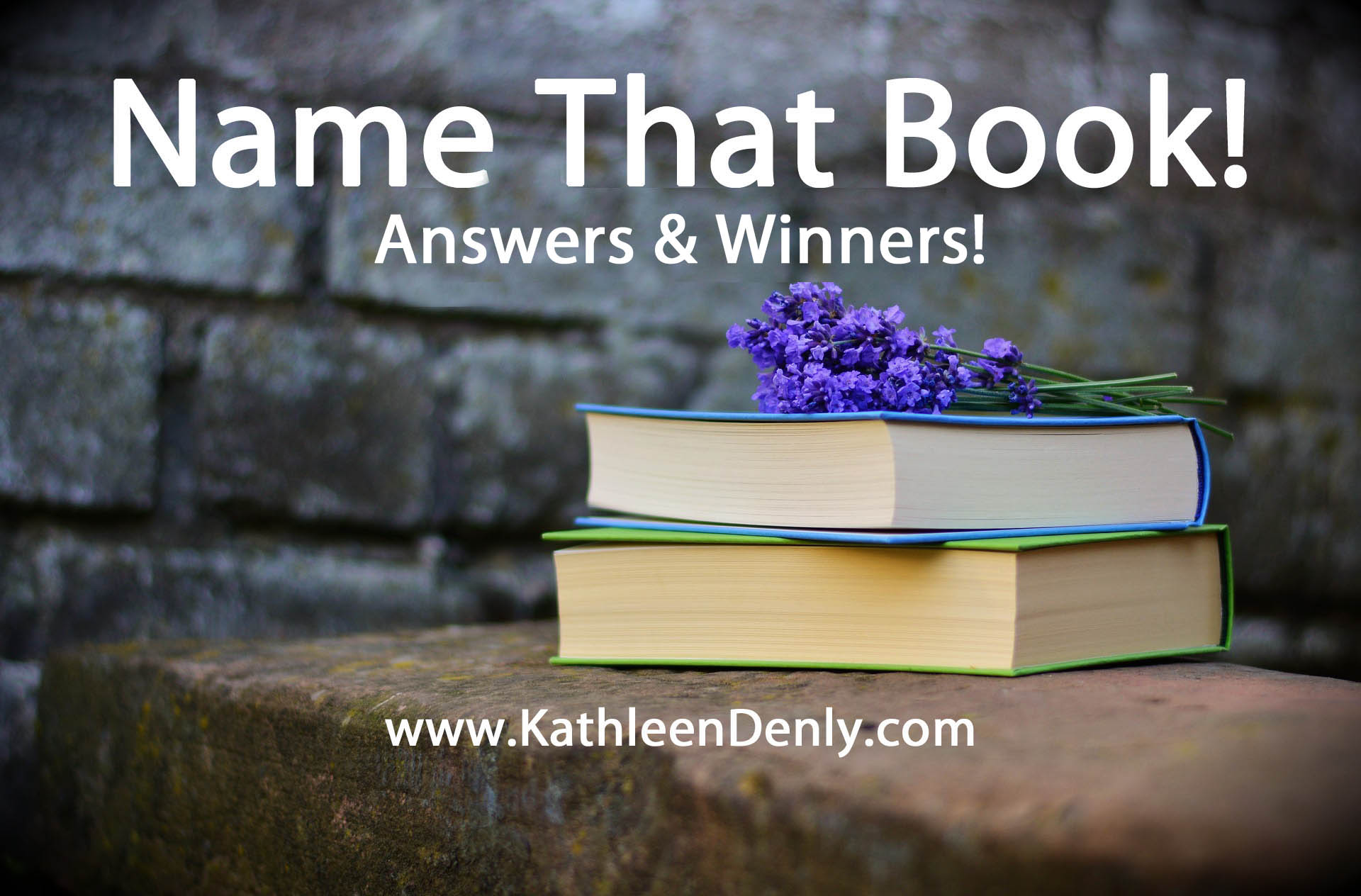 Name That Book Header Image - Answers & Winners