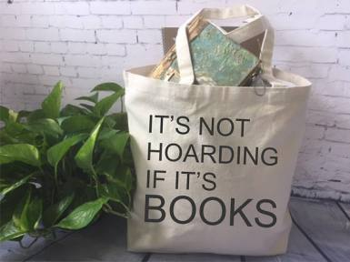 not hoarding if it's books bag