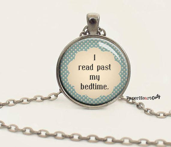 Read past my bedtime necklace
