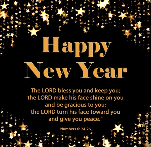 Happy New Year - Numbers Scripture Image