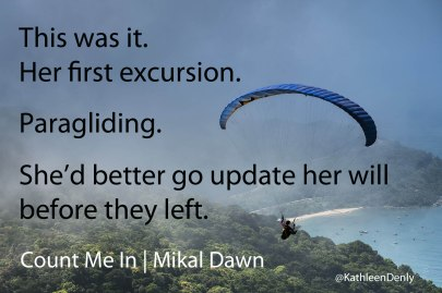 Count Me In - Image Quote - Paragliding