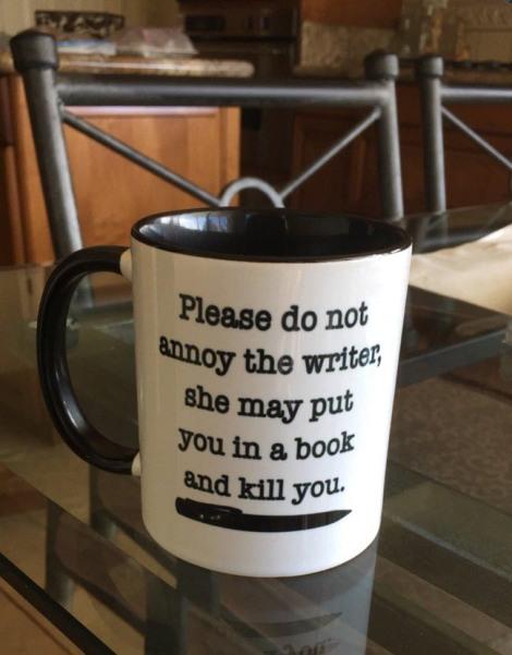 Please do not annoy the writer Mug photo