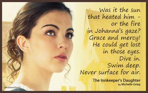 Book Quote Image - The Innkeeper's Daughter - Fire Gaze