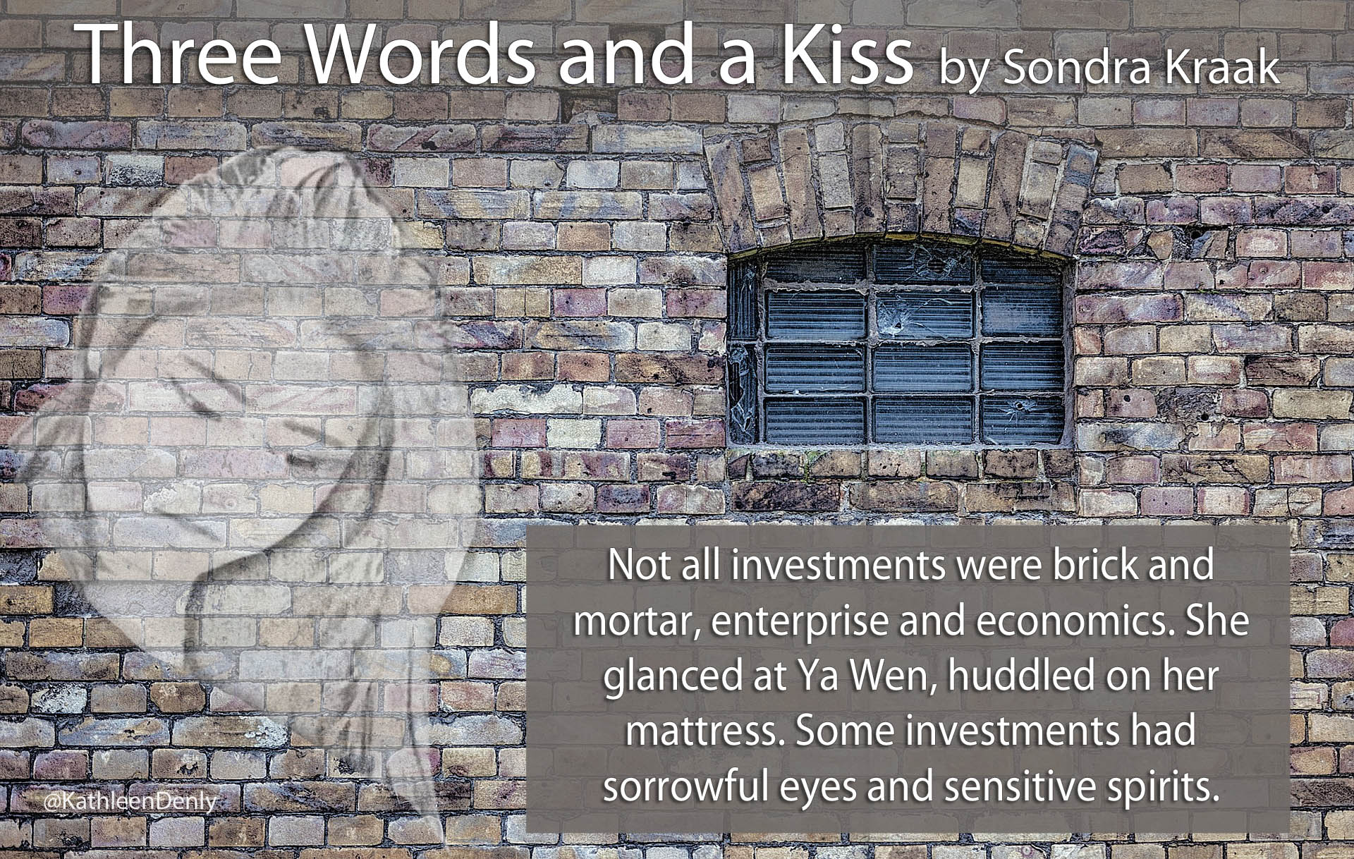 Book Quote Image - Three Words and a Kiss - Some Investments