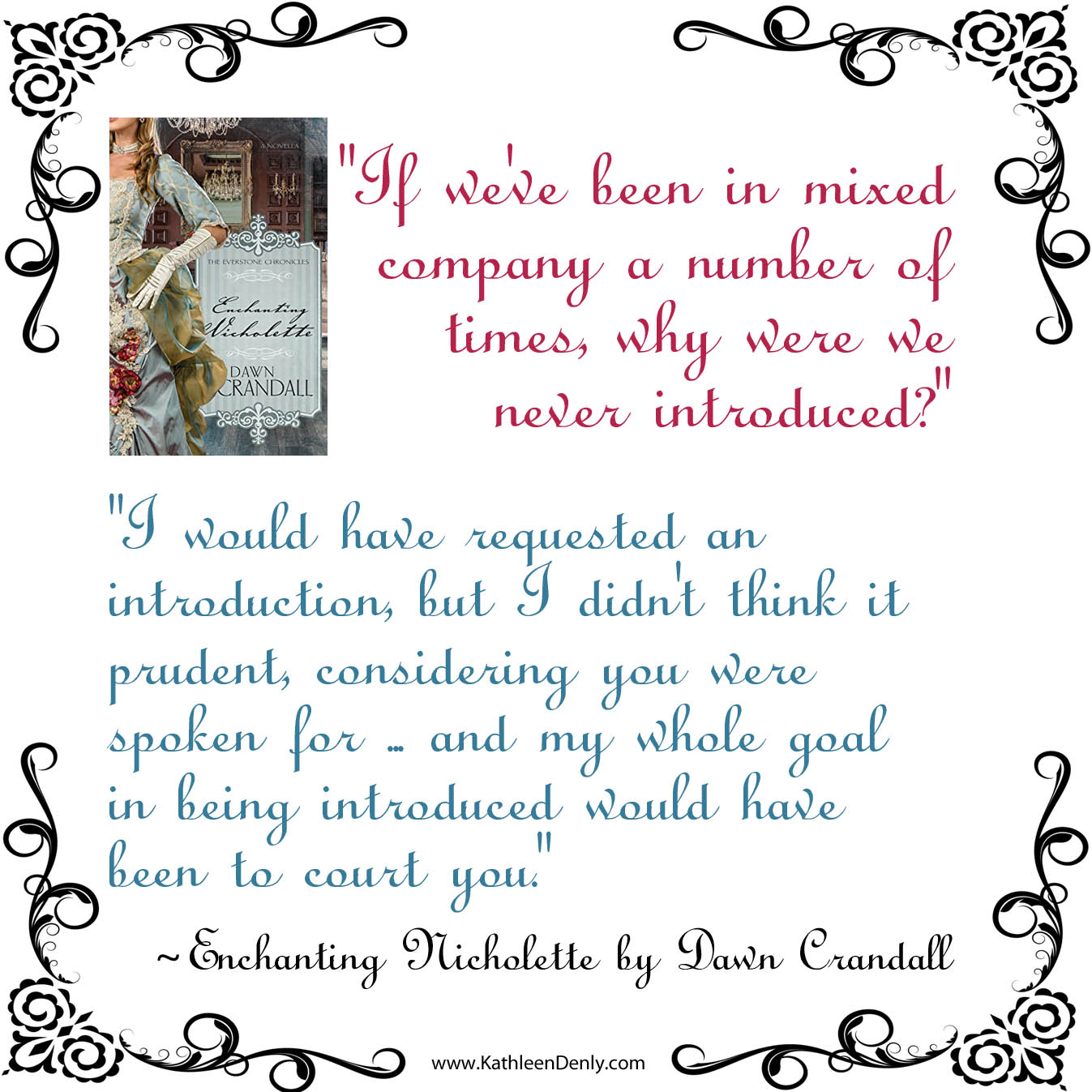 Book Quote Image - Enchanting Nicholette - Goal to Court You