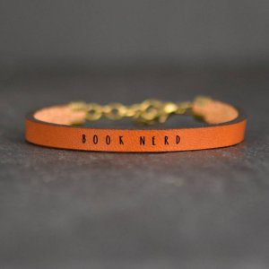 Book Nerd Leather Bracelet