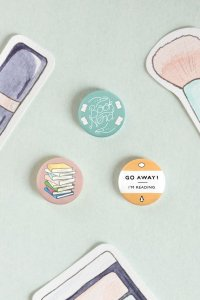 Bookish Badge Pins