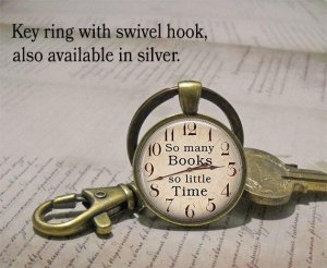 Bookish Key Ring