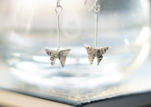 Butterfly Book Page Earrings
