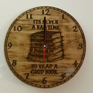 It's Never a Bad Time To Read A Good Book Clock
