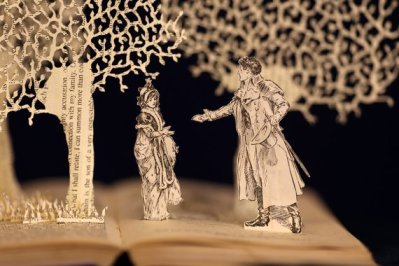 Jane Austen Book Sculpture Greeting Card