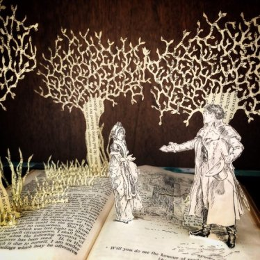 Jane Austen Book Sculpture
