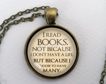 Many Lives Bookish Pendant