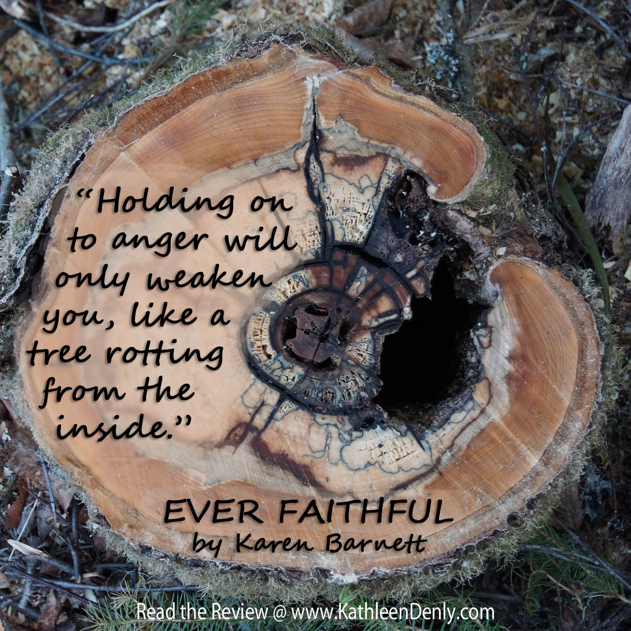 Book Quote - Ever Faithful - Anger Rotting Tree