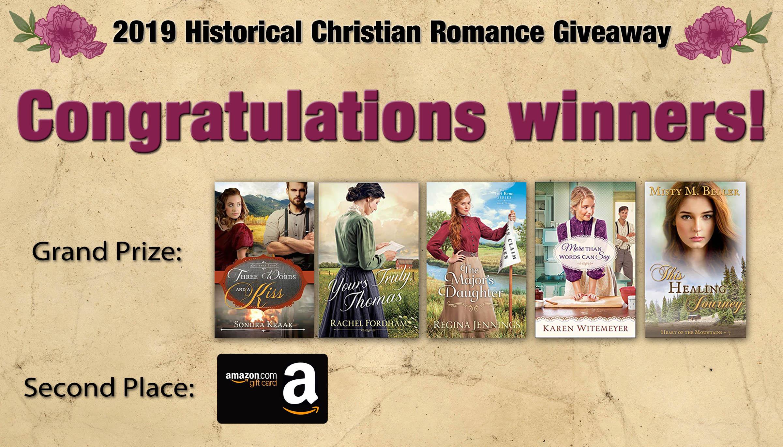 HR 5 Bk Giveaway - Congratulations Winners - Blog Post Header