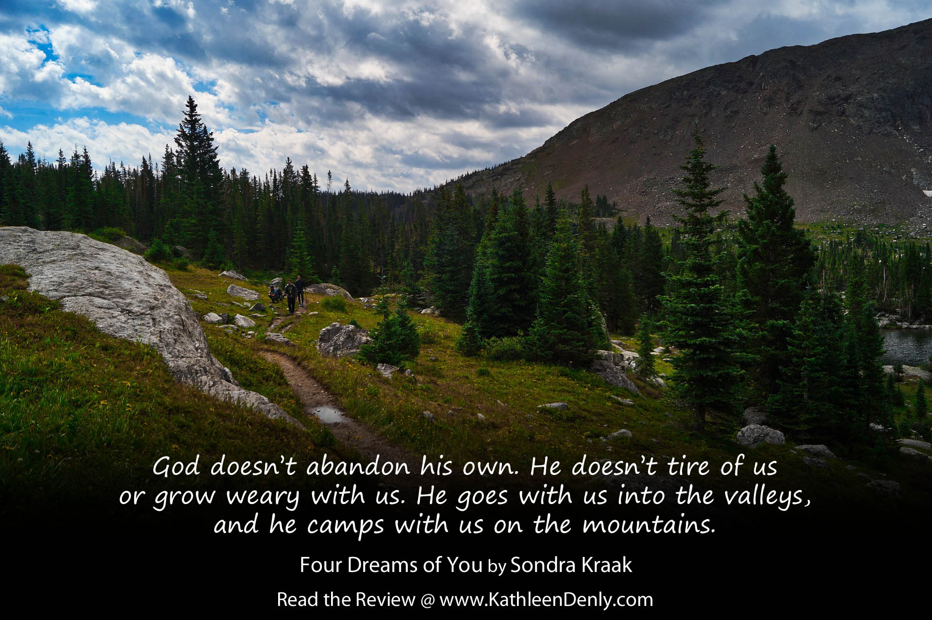 Book Quote - Four Dreams of You - God doesn't grow weary